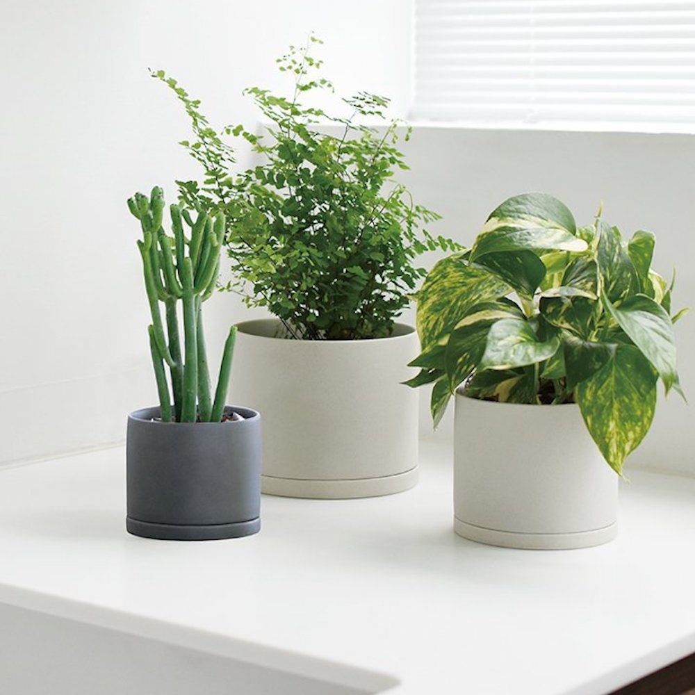 KINTO - PLANT POT 191_135mm dark gray