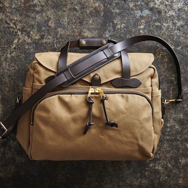 Filson - Padded Computer Bag dark tan