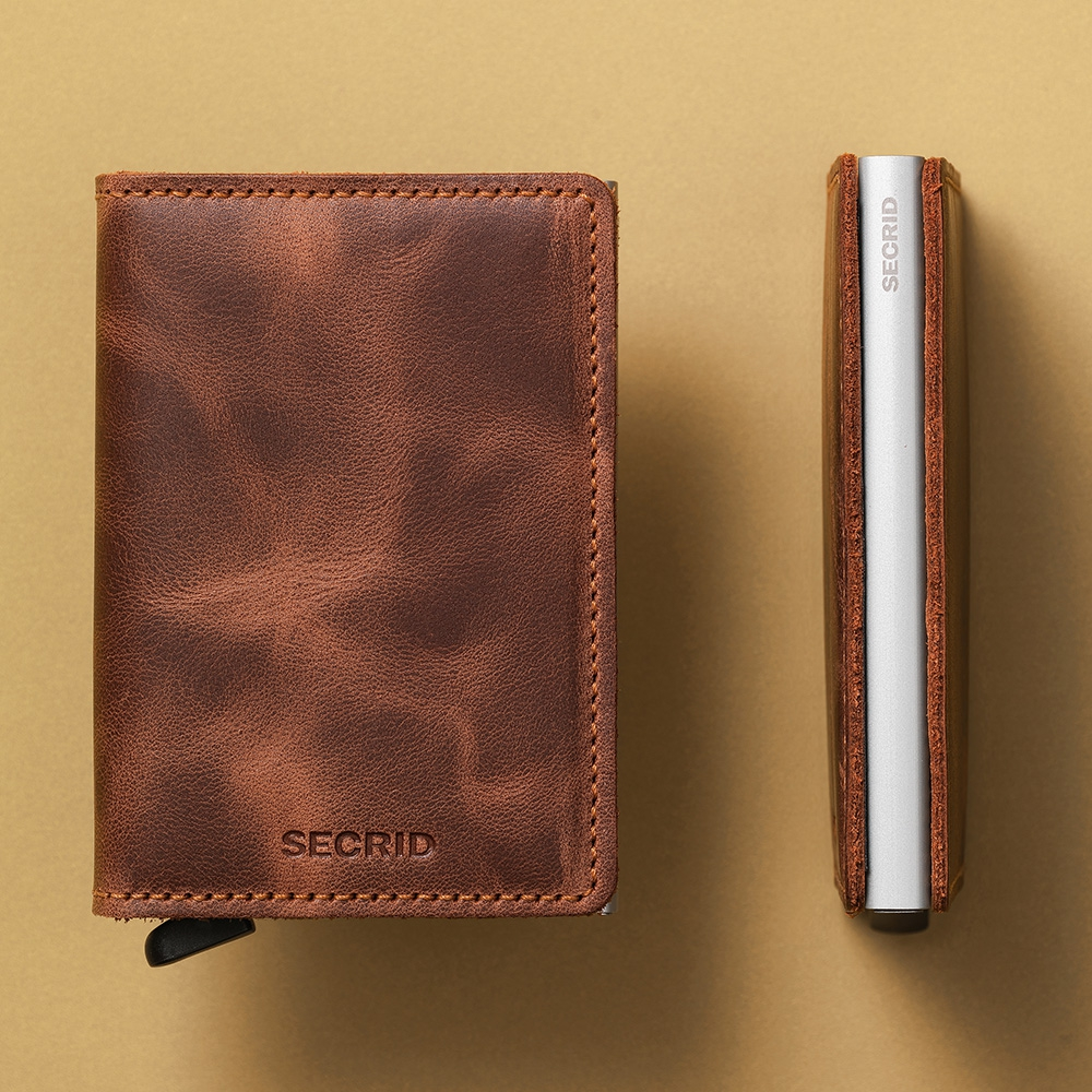 secrid - Slimwallet Perforated cognac