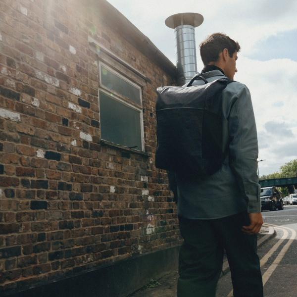 Salzen - Plain Backpack Tweet ash grey