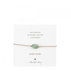 a beautiful story - Edelsteinkarte- Aventurine Gold Armband