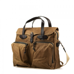 Filson - 24-Hour Tin Briefcase dark tan