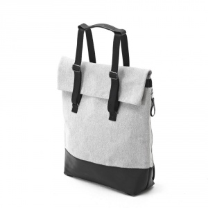 QWSTION - Day Tote raw blend leather canvas