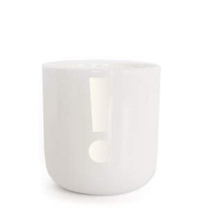 PLTY - ! - Pearl white Glyphs Cup