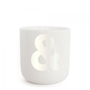 PLTY - & - Pearl white Glyphs Cup