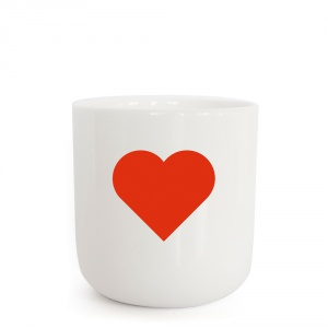 PLTY - Heart -Red Glyphs Cup