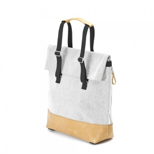 QWSTION - Day Tote raw blend natural leather