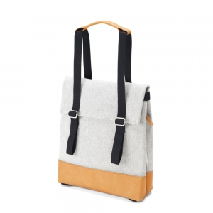 QWSTION - Small Tote raw blend natural leather