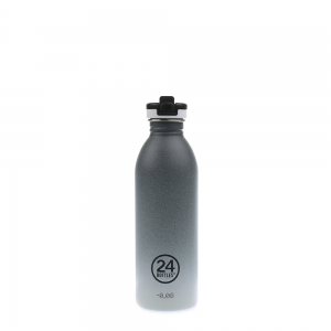 24Bottles - ATHLEISURE Bottle with sport lid 0,5 Liter tempo grey