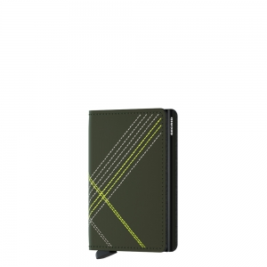 secrid - Slimwallet-Stitch -Matte base- linea lime