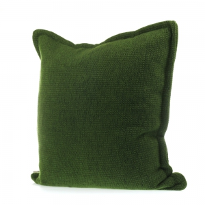 Roros Tweed - Picnic cushion deep moss green
